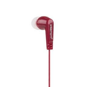 Intempo® EE1399BURSTKEU Buddy Earphones | Built- in Splitter | 3 Sets of Ear Cushions | 1.2 Metre Cable | Burgundy Thumbnail 2