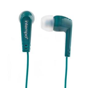 Intempo® EE1399GRNSTKEU Buddy Earphones | Built- in Splitter | 3 Sets of Ear Cushions | 1.2 Metre Cable | Green Thumbnail 2