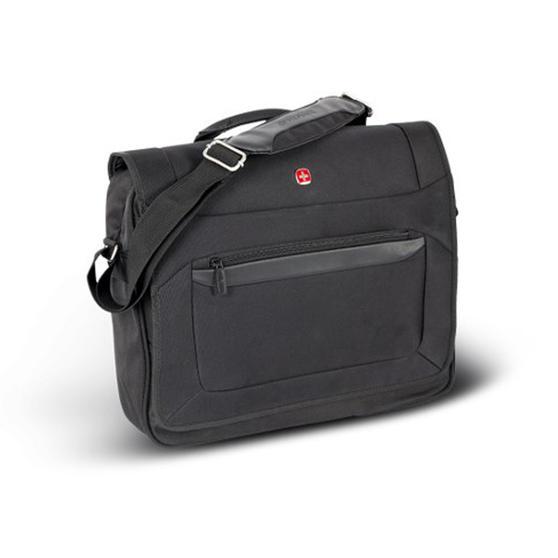 Wenger W73012292 Business Messenger Bag | 16 Inches | Padded Laptop Computer Pocket | Black