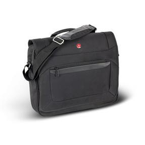 Wenger W73012292 Business Messenger Bag | 16 Inches | Padded Laptop Computer Pocket | Black Thumbnail 1