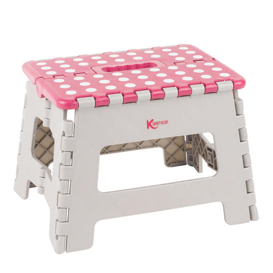 Kleeneze® KL064455EU6 Small Step Stool with Carry Handle  Lightweight   Folds Easily for Compact Storage   Ideal for Hard to Reach Places