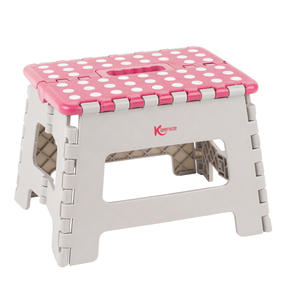 Kleeneze® KL064455EU6 Small Step Stool with Carry Handle| Lightweight | Folds Easily for Compact Storage | Ideal for Hard to Reach Places