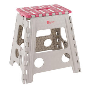 Kleeneze® Large Step Stool with Carry Handle| Lightweight | Folds Easily for Compact Storage