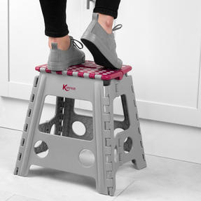 Kleeneze® KL064479EU6 Large Step Stool with Carry Handle| Lightweight | Folds Easily for Compact Storage | Ideal for Hard to Reach Places Thumbnail 2