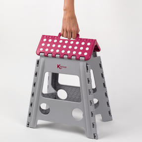 Kleeneze® KL064479EU6 Large Step Stool with Carry Handle| Lightweight | Folds Easily for Compact Storage | Ideal for Hard to Reach Places Thumbnail 5