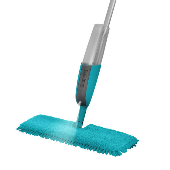Beldray® LA067098UFEU7 Anti Bac Double Sided Spray Mop | Treated with Anti-Bac Protection | Can Be Used Wet or Dry