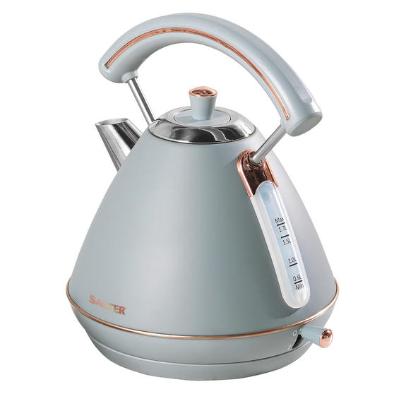 Salter EK3643GRG Pyramid Kettle | 1.7 Litre | 3000W, Grey/Rose Gold Edition | 36