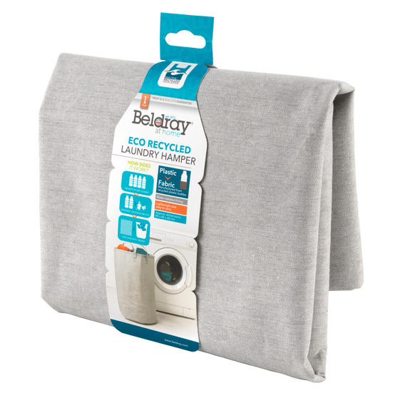 Beldray® LA072696EU7 Recycled Laundry Hamper | Manufactured From Recycled Plasti Main Image 3