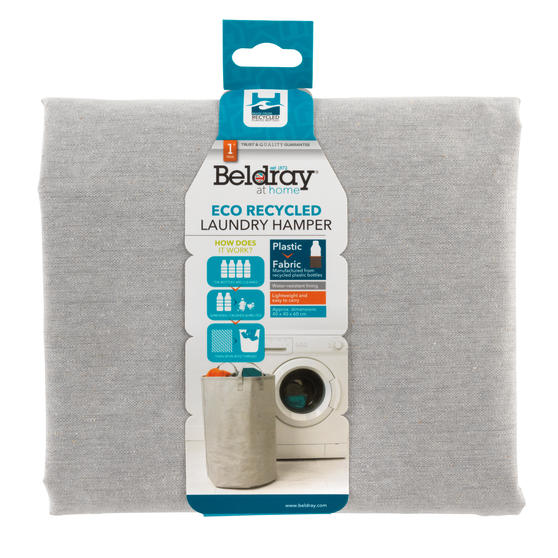 Beldray® LA072696EU7 Recycled Laundry Hamper | Manufactured From Recycled Plasti Main Image 4