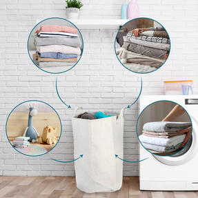 Beldray® LA072696EU7 Recycled Laundry Hamper | Manufactured From Recycled Plastic Bottles | Lightweight | Easy to Carry | Foldable Thumbnail 2