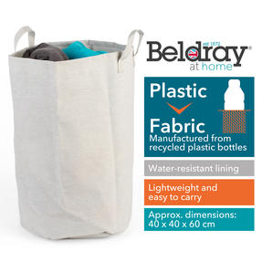 Beldray® LA072696EU7 Recycled Laundry Hamper | Manufactured From Recycled Plastic Bottles | Lightweight | Easy to Carry | Foldable Thumbnail 6