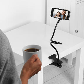 Intempo® EE5982BLKSTKEU7 Flexible Clip Phone Holder | Clip On Design | Adjustable Head | Compatible With All Phones Up To 6.5 Inches Thumbnail 2