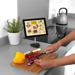 Intempo® EE5981BLKSTKEU7 Extendable Tablet and Phone Desktop Holder | Adjustable Head | Metallic Stand Thumbnail 3