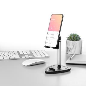 Intempo® EE5981BLKSTKEU7 Extendable Tablet and Phone Desktop Holder | Adjustable Head | Metallic Stand Thumbnail 4
