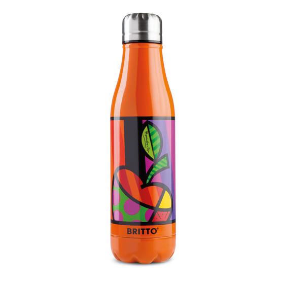 Britto KBR44-PME Orange & Pop Art Apple Insulated Flask Bottle | 500 ml | Stainless Steel