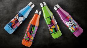 Britto KBR44-PME Orange & Pop Art Apple Insulated Flask Bottle | 500 ml | Stainless Steel Thumbnail 6