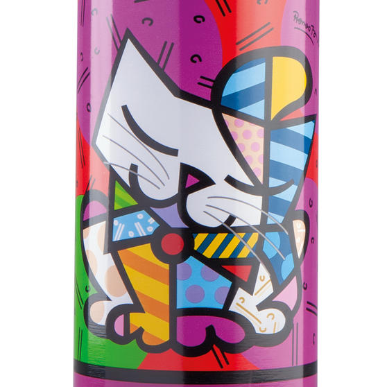 Britto KBR44-PGA Purple /& Pop Art Cat Insulated Flask Bottle500 ml