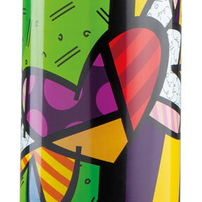 Britto KBR44-PCU Green & Pop Art Heart Insulated Flask Bottle | 500 ml | Stainless Steel Thumbnail 2