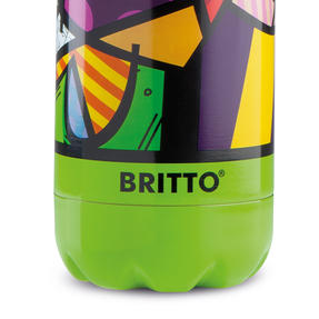 Britto KBR44-PCU Green & Pop Art Heart Insulated Flask Bottle | 500 ml | Stainless Steel Thumbnail 4
