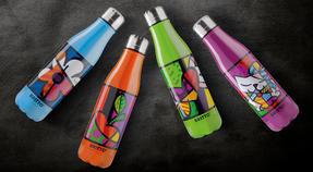 Britto KBR44-PCU Green & Pop Art Heart Insulated Flask Bottle | 500 ml | Stainless Steel Thumbnail 6