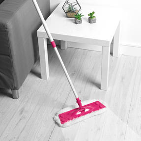 Kleeneze® KL079619EU7 All in One Flat Head Mop with Extendable Handle | Interchangeable Fluffy/Scrubbing/Microfibre Cleaning Pads | Perfect for Hard Floors Thumbnail 2
