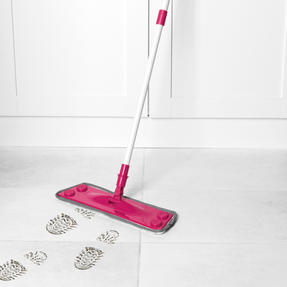 Kleeneze® KL079619EU7 All in One Flat Head Mop with Extendable Handle | Interchangeable Fluffy/Scrubbing/Microfibre Cleaning Pads | Perfect for Hard Floors Thumbnail 3