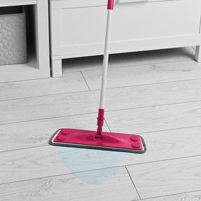 Kleeneze® KL079619EU7 All in One Flat Head Mop with Extendable Handle | Interchangeable Fluffy/Scrubbing/Microfibre Cleaning Pads | Perfect for Hard Floors Thumbnail 4