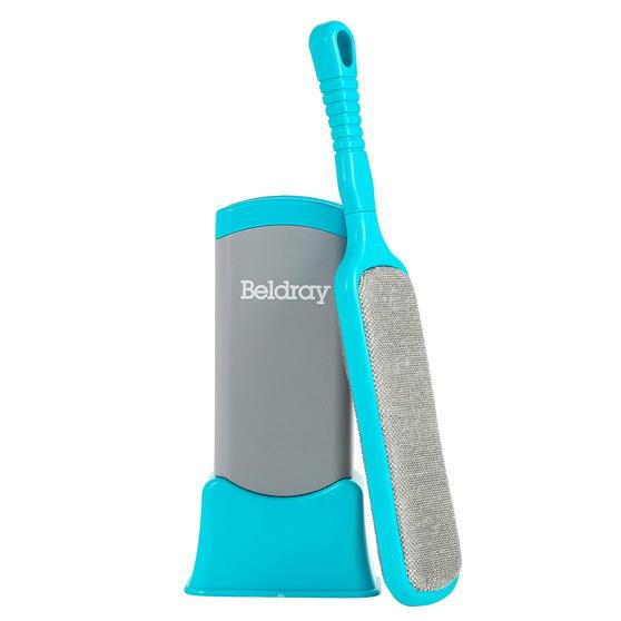 Beldray® LA077837EU7 Pet Plus+ Pet Hair Lint Dust Removal Brush with Stand | Micro Bristles/Detachable Base | Turquoise/Grey