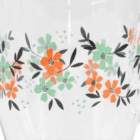 Cambridge® CM07250 Francie Borosilicate Glass Mug with Handle | Double Walled | 300 ml | Floral Print | Perfect for Tea, Coffee, Hot Chocolate Thumbnail 2