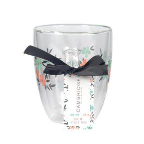 Cambridge® CM07250 Francie Borosilicate Glass Mug with Handle | Double Walled | 300 ml | Floral Print | Perfect for Tea, Coffee, Hot Chocolate Thumbnail 4