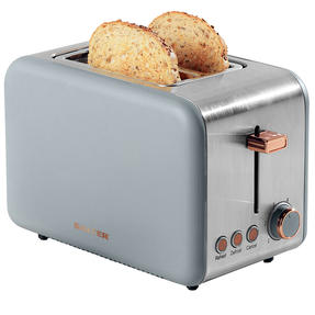 Salter® 2-Slice Toaster with Wide Slots & Removable Crumb Tray | 850 W | Defrost/Reheat/Cancel Thumbnail 1