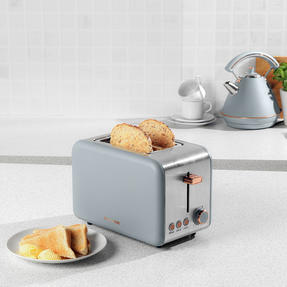 Salter® 2-Slice Toaster with Wide Slots & Removable Crumb Tray | 850 W | Defrost/Reheat/Cancel Thumbnail 2