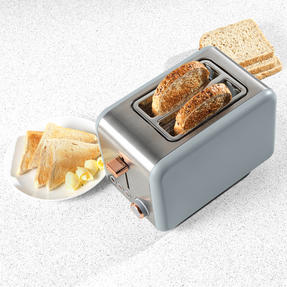 Salter® 2-Slice Toaster with Wide Slots & Removable Crumb Tray | 850 W | Defrost/Reheat/Cancel Thumbnail 3