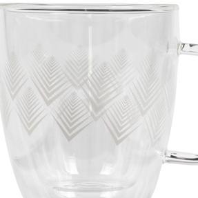 Cambridge® CM07251 Hollingworth Borosilicate Glass Mug with Handle | Double Walled | 300 ml | Perfect for Tea, Coffee, Hot Chocolate Thumbnail 2
