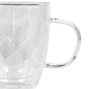Cambridge® CM07251 Hollingworth Borosilicate Glass Mug with Handle | Double Walled | 300 ml | Perfect for Tea, Coffee, Hot Chocolate Thumbnail 3