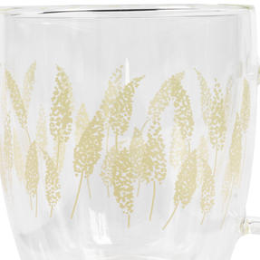 Cambridge® CM07260 Feather Grass Borosilicate Glass Mug with Handle   Double Walled   350 ml   Perfect for Tea, Coffee, Hot Chocolate Thumbnail 2