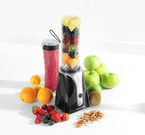 Salter EK2151BLK Blender to Go with Stainless Steel Cross Blade | Ideal for Healthy Smoothies | Includes Two 600 ml BPA Free Bottles | 350 W | Black Thumbnail 3