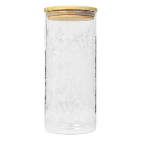 Cambridge® CM07276 Spring Meadow Storage Preserving Glass Jar | 1200 ml | Bamboo Lid | Perfect For Storing Dry Pasta, Rice, Flour, Biscuits, Grains
