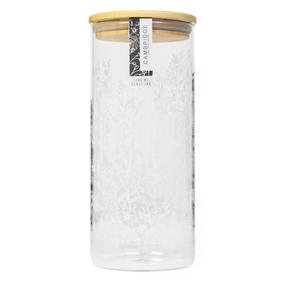 Cambridge® CM07276 Spring Meadow Storage Preserving Glass Jar | 1200 ml | Bamboo Lid | Perfect For Storing Dry Pasta, Rice, Flour, Biscuits, Grains Thumbnail 3