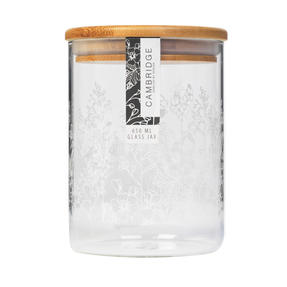 Cambridge® CM07224 Spring Meadow Storage Preserving Glass Jar | 650 ml | Bamboo Lid | Perfect For Storing Dry Pasta, Rice, Flour, Biscuits, Grains Thumbnail 3