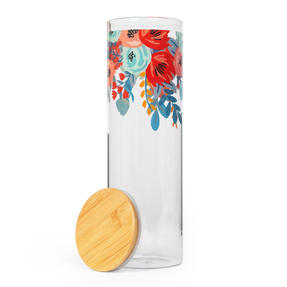 Cambridge® CM07281 Arielle Storage Preserving Glass Jar | 1800 ml | Bamboo Lid | Perfect For Storing Dry Pasta, Rice, Flour, Biscuits, Grains Thumbnail 2