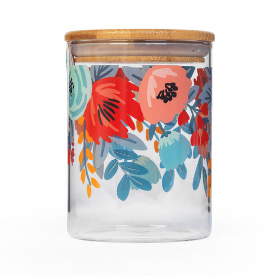 Cambridge® CM07279 Arielle Storage Preserving Glass Jar | 650 ml | Bamboo Lid | Perfect For Storing Dry Pasta, Rice, Flour, Biscuits, Grains