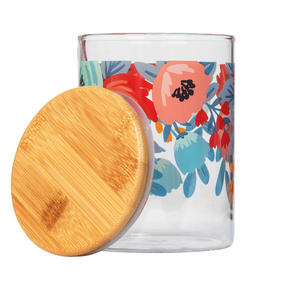 Cambridge® CM07279 Arielle Storage Preserving Glass Jar | 650 ml | Bamboo Lid | Perfect For Storing Dry Pasta, Rice, Flour, Biscuits, Grains Thumbnail 2