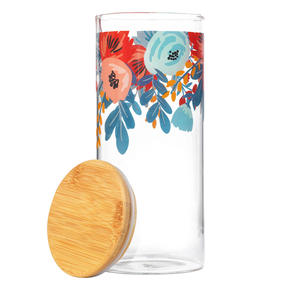 Cambridge® CM07280 Arielle Storage Preserving Glass Jar   1200 ml   Bamboo Lid   Perfect For Storing Dry Pasta, Rice, Flour, Biscuits, Grains Thumbnail 2