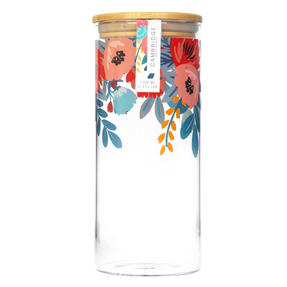 Cambridge® CM07280 Arielle Storage Preserving Glass Jar | 1200 ml | Bamboo Lid | Perfect For Storing Dry Pasta, Rice, Flour, Biscuits, Grains Thumbnail 3