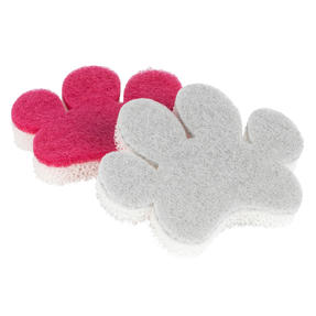 Kleeneze® KL080554EU7 2-Pack Pet Bowl Sponges | Non-Scratch Scourer | Avoids Cross Contamination with Kitchen Crockery | Comfortable Grip