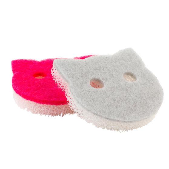 Kleeneze® KL080578EU72-Pack Pet Bowl Sponges | Non-Scratch Scourer | Avoids Cross Contamination with Kitchen Crockery | Comfortable Grip