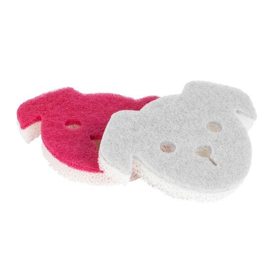 Kleeneze® KL080592EU7 2-Pack Pet Bowl Sponges | Non-Scratch Scourer | Avoids Cro