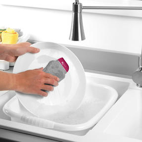 Kleeneze® KL077905EU7 Flexible Silicone Cleaning Pad | Compact Design | Suitable for Tableware, Pots and Pans, Glassware and More | Rinse and Re-Use Thumbnail 2