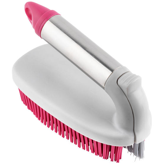 Kleeneze® KL078957EU7 2 in 1 Rubber Head Scrubbing Brush | Carry Handle for Easy